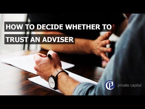 Trusting an adviser
