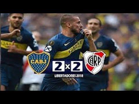 Boca Juniors 2 x 2 River Plate Gols & Melhores Momentos JOGAÇO Libertadores 2018