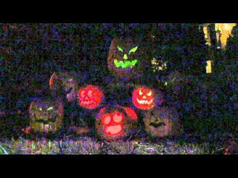 Halloween light displays
