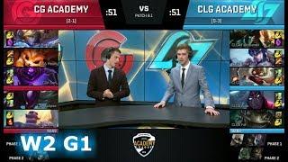 Video Clutch Gaming Academy vs CLG Academy   Week 2 of S8 NA Academy League Spring 2018   CGA vs CLGA MP3, 3GP, MP4, WEBM, AVI, FLV Juni 2018
