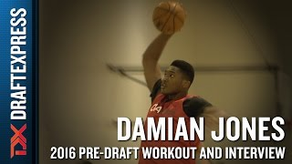 Damian Jones Highlights from CAA Pro Day (extended version)