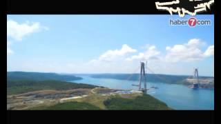 3. Boğaz Köprüsü Projesi'nde çelik tabliyelerin konulması işlemiyle birlikte köprüyü taşıyacak iki sistemden biri olan eğik askı halatlarının montaj işlemleri tüm hızıyla devam ediyor.