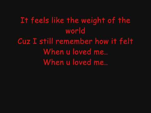 Lemar  - Weight of the World - Lyrics