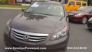 Autoline Preowned 2011 Honda Accord Sdn EX  For Sale Used Walk Around Review Test Drive Jacksonville