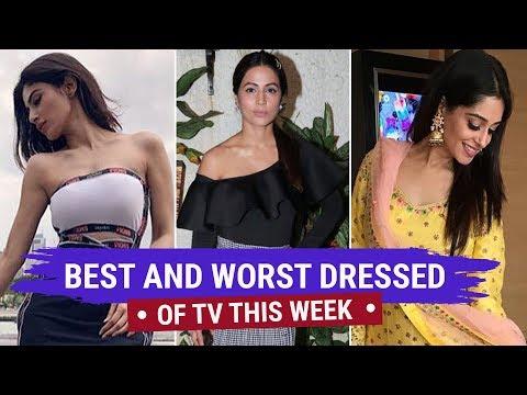 Hina Khan, Divyanka Tripathi : Tv's Best and Worst Dressed of the Week | Zee Golden Awards 2018 (видео)