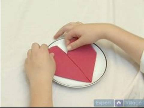 napkin folding heart - Fold a napkin into a heart shape in this free napkin folding techniques video. Expert: Rachel Dayan Bio: Rachel has traveled the world where she picked up ma...