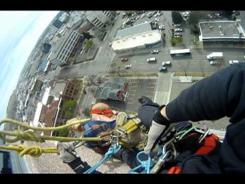 Highrise rope rescue training