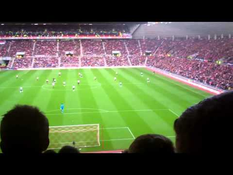 Sunderland - Sunderland fans, South Stand singing throughout the 2-1 win against Newcastle.