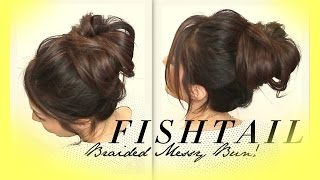 ★ VOLUMINOUS BRAIDED MESSY BUN TUTORIAL | CUTE HAIRSTYLES FOR MEDIUM LONG HAIR | SCHOOL PROM WEDDING