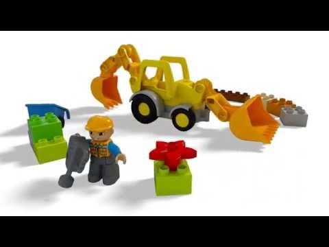 Конструктор Экскаватор-погрузчик - LEGO DUPLO - фото № 4