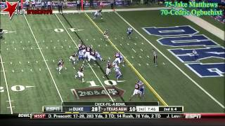 Jake Matthews vs Duke (2013)