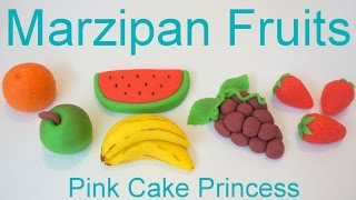 Marzipan Recipe - How To Make Marzipan Fruits By Pink Cake Princess