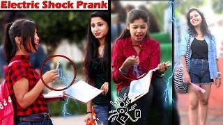 Electric Shock Prank on Girls | Awesome Reactions of Girls | Unglibaaz