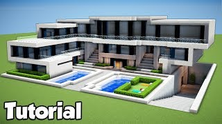 Minecraft: How to Build a Large Modern House - Tutorial 2018