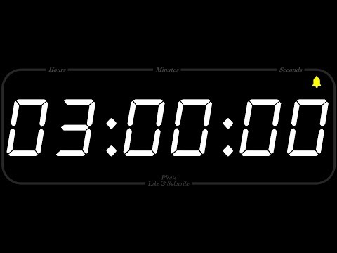3 Hour - TIMER & ALARM - 1080p - COUNTDOWN