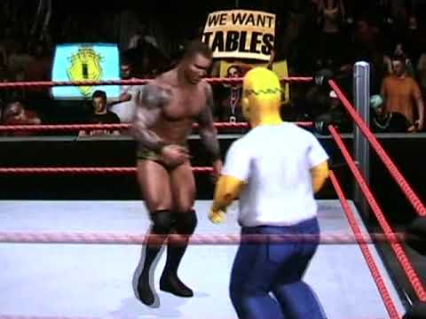 Randy Orton vs The Simpsons Championship Scramble