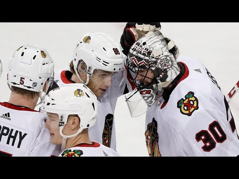 Video: How Blackhawks' Glass drew inspiration from Vegas goalie situation