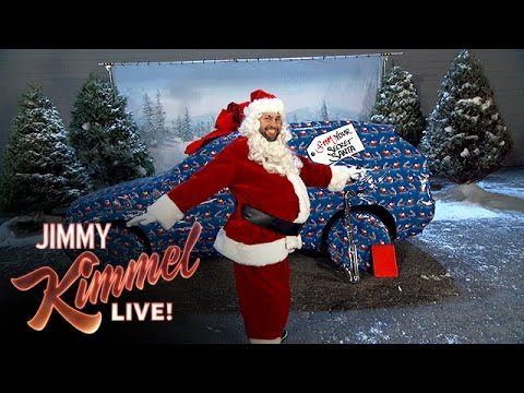 PRANK WARS: Watch as John Krasinski pranks Jimmy Kimmel by filling his car with Christmas ornaments!