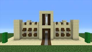 Minecraft Tutorial: How To Make A Desert House (Including Interior/Exterior)