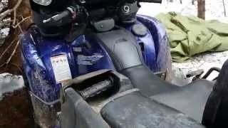 9. Cold Start 2009 Yamaha Grizzly 700 after 4 cold months