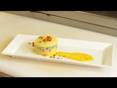 South American Recipe: How to Make a Peruvian Mashed Potato Appetizer with Tuna and Avocado