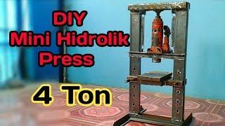 Video DIY hydraulic  press from 4 ton jack MP3, 3GP, MP4, WEBM, AVI, FLV Oktober 2018
