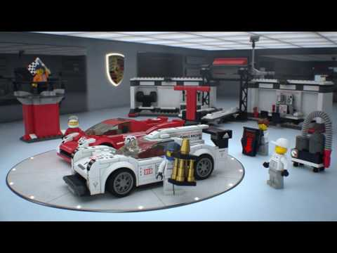 Конструктор Porsche 919 Hybrid and 917K Pit Lane - LEGO SPEED CHAMPIONS - фото № 8