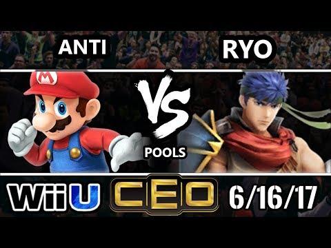 CEO 2017 Smash 4 - IMT | ANTi (Mario) vs Noble | Ryo (Ike) Wii U Tournament