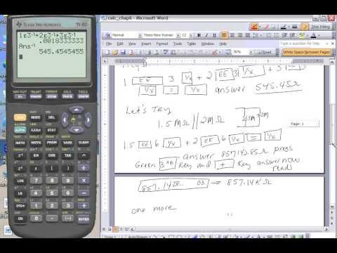 Parallel Resistors  calculator use