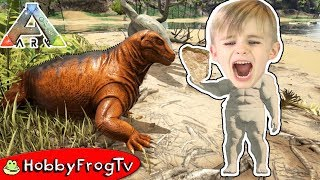 ARK SURVIVAL Evolved! Dinosaurs + Silly Character Build HobbyFrogTV