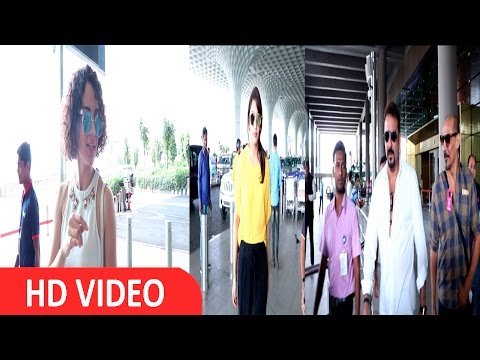Kangana Ranaut, Huma Qureshi & Sanjay Dutt Spotted At Airport