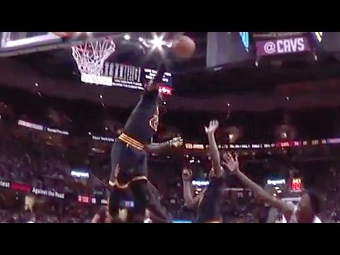 LeBron James Dances After Swatting Shot Into The Future