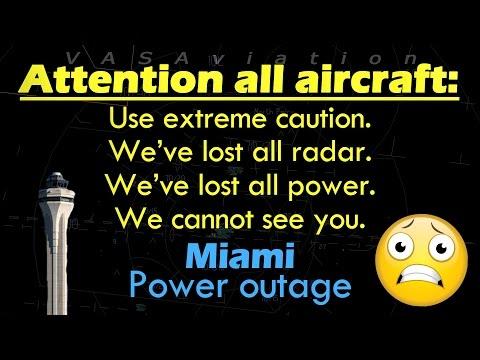 [REAL ATC] FULL LOSS OF POWER at Miami International #KMIA