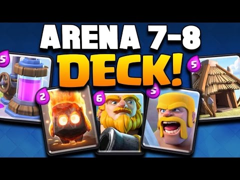 "Clash Royale - ""GET TO LEGENDARY ARENA!"" Arena 7-8 Deck Strategy! BEST ..."