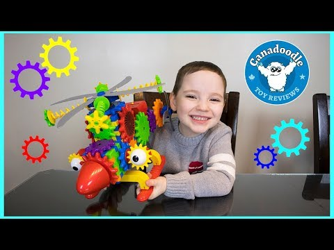 Hudson building a Crazy Copter! Techno Gears Crazy Copter building set for kids with Canadoodle