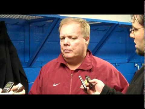 Hockey: Bob Daniels Post Game Press Conference 11/13/10