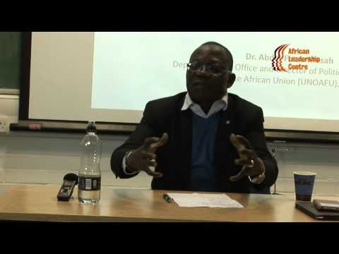 Dr. Abdel-Fatau Musah Seminar on Regional Norms, Leadership and the Security Crisis in Africa