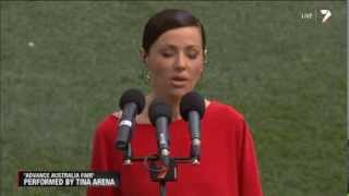 Download Lagu Tina Arena sings the Australian National Anthem on AFL Grand Final 2013 Mp3