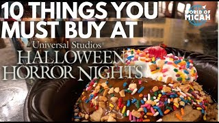 10 Things you must buy at Halloween Horror Nights 2018! (WORLD OF MICAH)