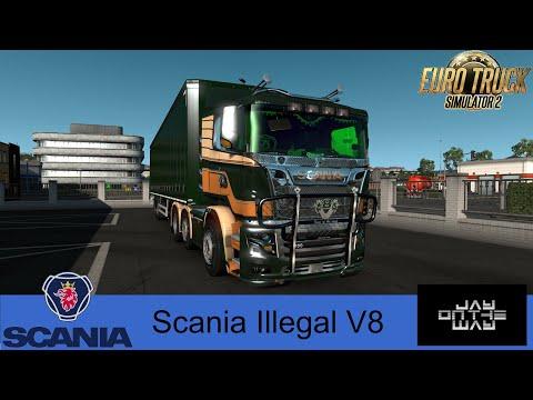 Scania R&S V8 Illegal Reworked v9.0.2 1.36.x