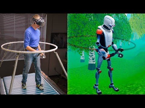 The Infinadeck Omnidirectional Treadmill - Smarter Every Day