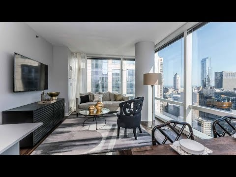 A 2-bedroom, 2-bath model at the Loop's lavish OneEleven tower