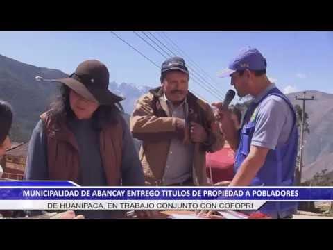 ENTREGA DE TITULOS EN HUANIPACA