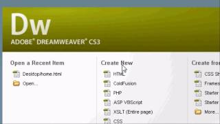 Adobe Dreamweaver Introduction Tutorial - How To Make A Website In HTML