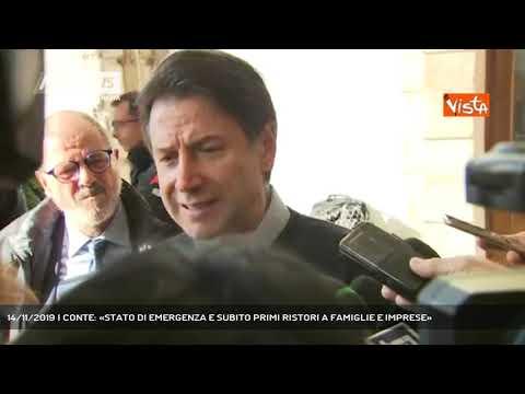 14/11/2019 | CONTE: «STATO DI EMERGENZA E SUBITO PRIMI RISTORI A FAMIGLIE E IMPRESE»