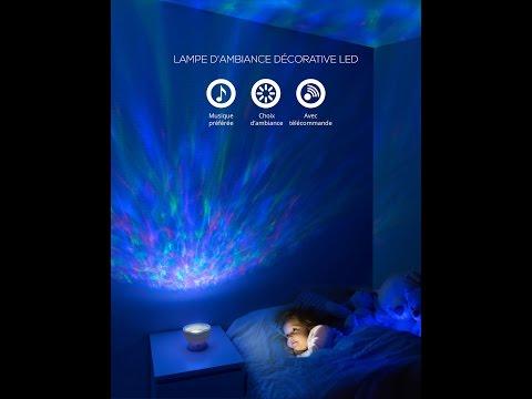 veilleuse enfant, lampe d'ambiance, lampe de chevet enfant multicolore, luminaire LED