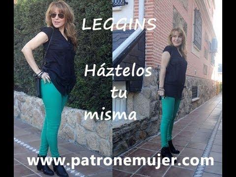 Como hacer unos leggins: (Patrón gratis) de leggins con patronesmujer.com.