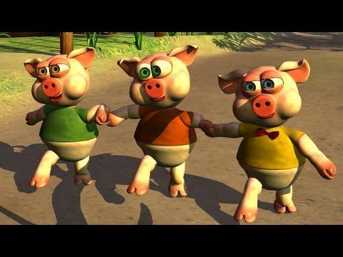 Los Tres Chanchitos - Canciones Infantiles de la Granja
