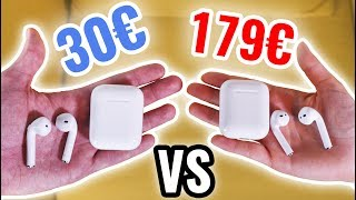 Faux Airpods 30€ VS Airpods 179€ ! (Fake Parfait)