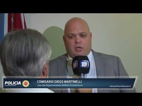 Conferencia de prensa del Jefe del Dpto. Delitos Económicos.